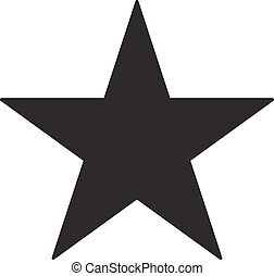 Black star icon on a white background. Vector illustration