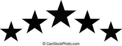 Black star set in half circle shape