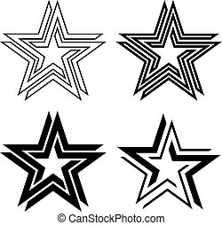 black star symbol infinite loop