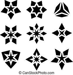 black star symbols