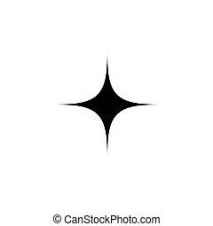 Black star - vector icon
