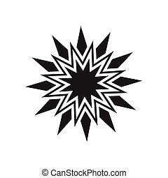 Black star vector icon