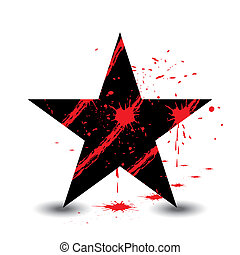 Black star with blood