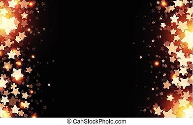 Black starry background.