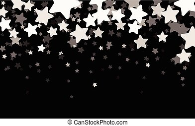 Black starry banner. - Black starry banner with stars...