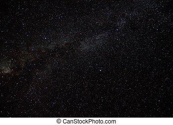 starry sky;