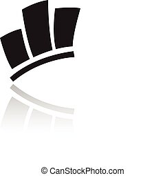 Black stats icon isolated on white