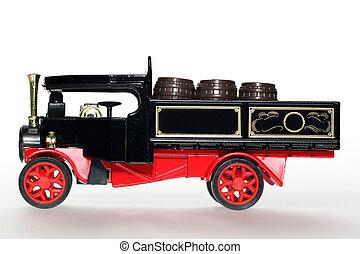 Black steam car