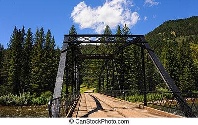 Black Steel spans Gallatin River