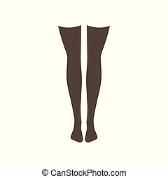 Black stockings vector Illustration on a white background