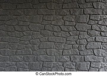 Black stone wall background