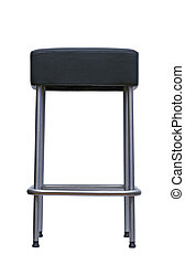 black stool - metal bar stool over white