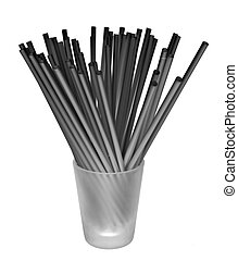 Black Straws, Clear Shot Glass