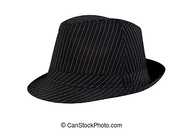 Black striped Hat isolated on white