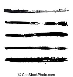 black strokes of paint