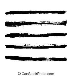 black strokes of paint