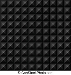 Vector black studs seamless texture. File includes global colors and pattern swatch.