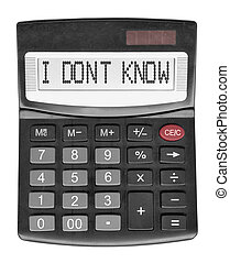 Black stupid calculator isolated on white background
