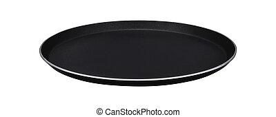 Black styrofoam food tray