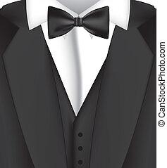 black suit