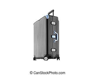 Black Suitcase - isolated on white