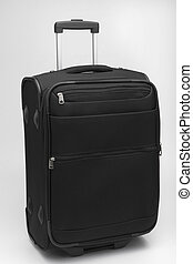 Black suitcase isolated on white background