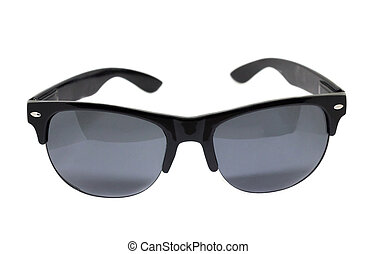 Black sun glasses isolated over the white background