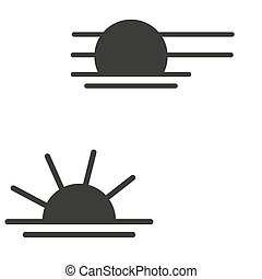 Black Sun vector icon on white background. eps10
