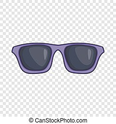 Black sunglasses icon, cartoon style