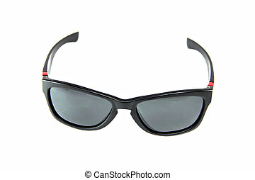Black Sunglasses isolated.