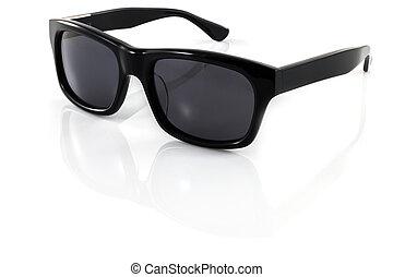 Black sunglasses isolated