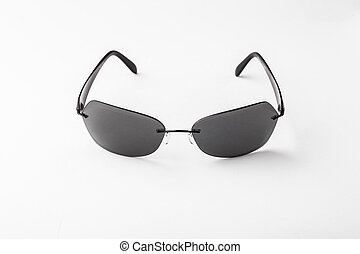 Black sunglasses isolated on a white background