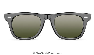 Black sunglasses isolated on white background with clipping ...