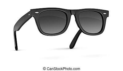 Black sunglasses isolated on white - Black classic ...