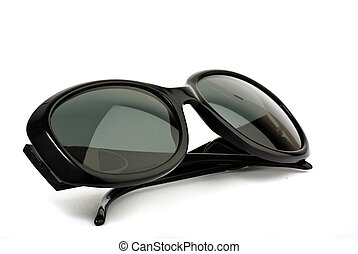 black sunglasses on white background