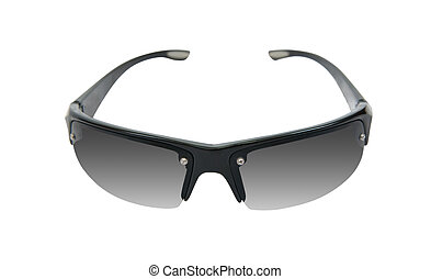 black sunglasses, isolated on white background with clipping...