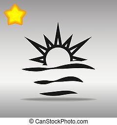 black sunrise Icon button logo symbol concept high quality