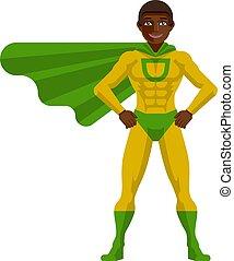 Black Superhero Man Cartoon