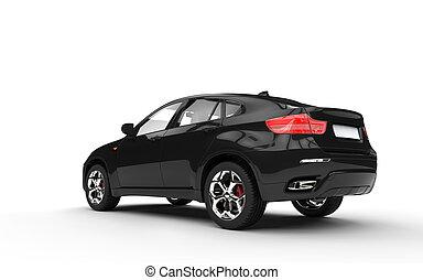 Black SUV Rear View 2