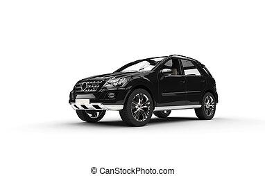 Black SUV Studio Shot