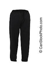 black Sweatpants isolated on white background