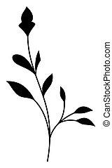 Black Swirl Flourish Element - Abstract Retro Decorative...