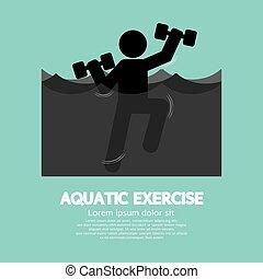 Black Symbol Aquatic Exercise