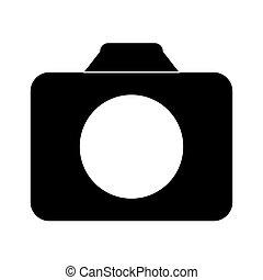 Black symbol camara icon image