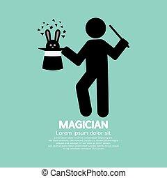 Black Symbol Graphic Of Magician.