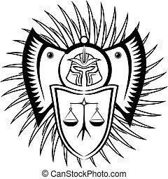 Black symbol of law