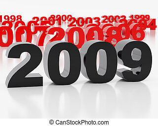 Black symbol of new year