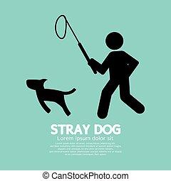 Black Symbol Stray Dog Vector Illustration