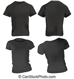 black orange t shirt design templates front back on male and