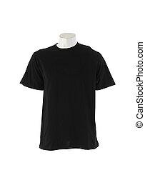Black T-shirt isolated